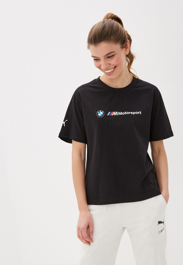 женская спортивные футболка puma, черная