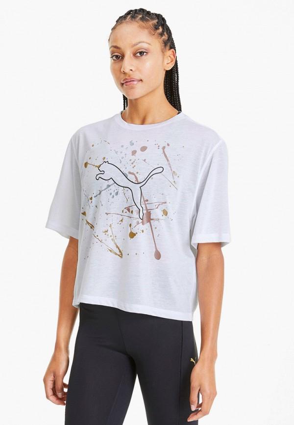 женская спортивные футболка puma, белая