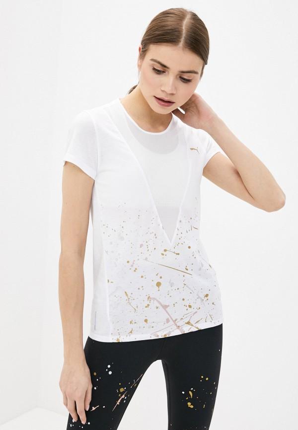 женская футболка puma, белая