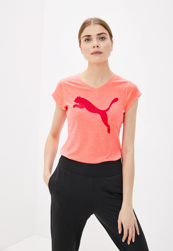 женская футболка puma, розовая