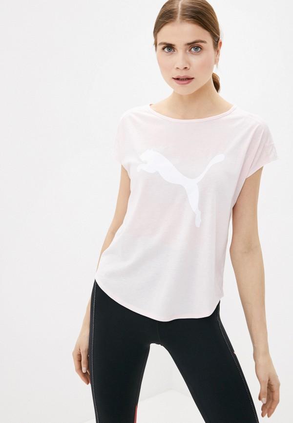 женская спортивные футболка puma, розовая