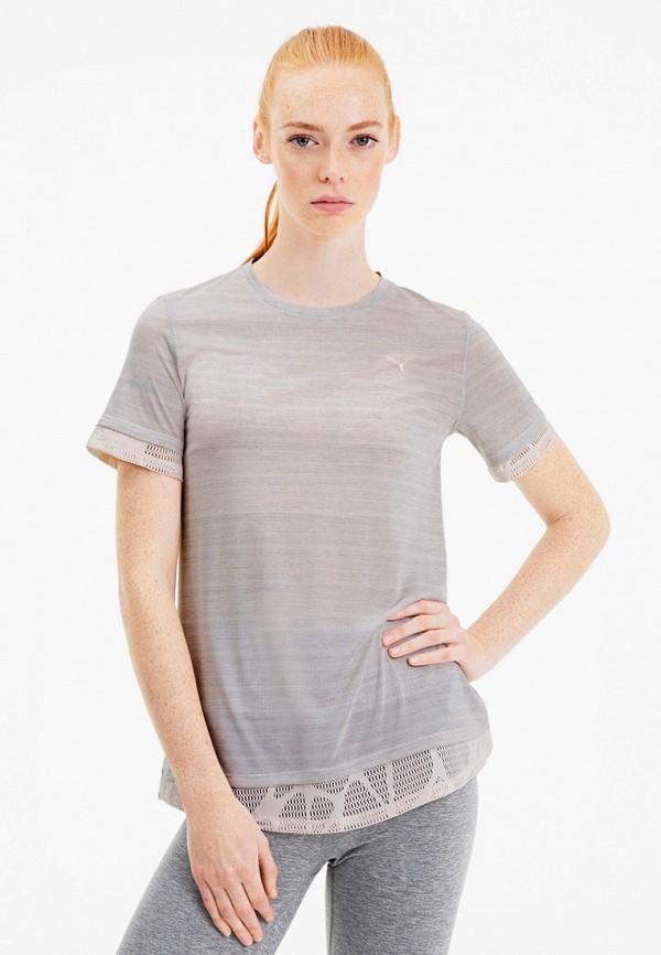 женская спортивные футболка puma, серая