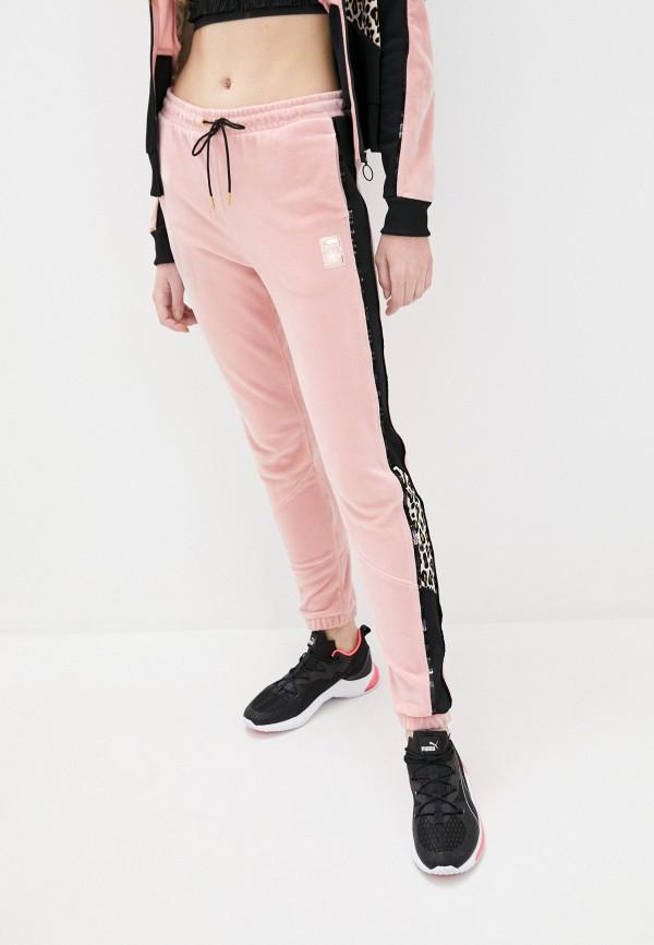 женские спортивные брюки puma, розовые