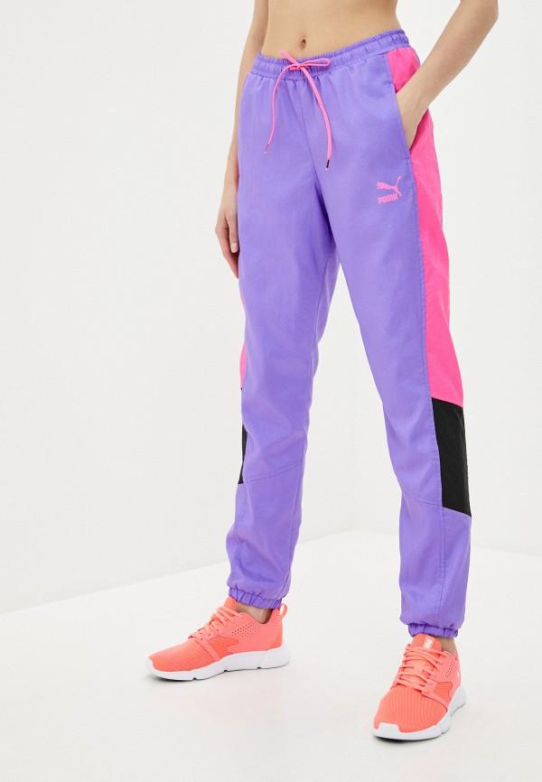 женские спортивные брюки puma, фиолетовые