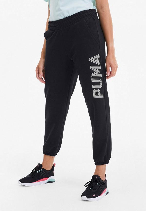 женские спортивные брюки puma, черные