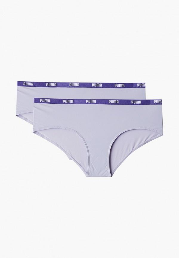 женские трусы puma, фиолетовые
