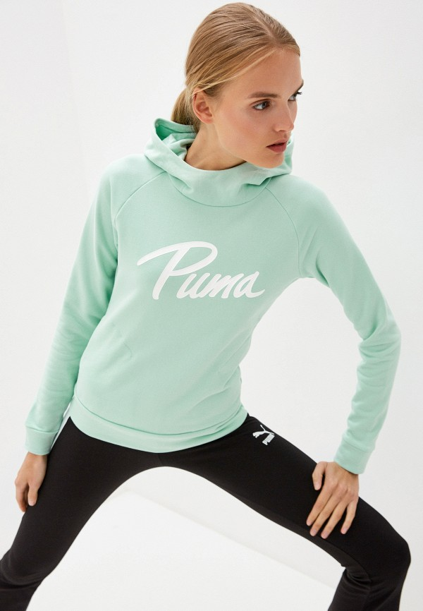 женские худи puma, зеленые