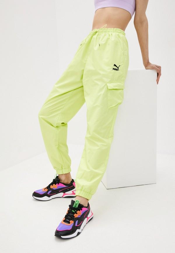 женские спортивные брюки puma, желтые