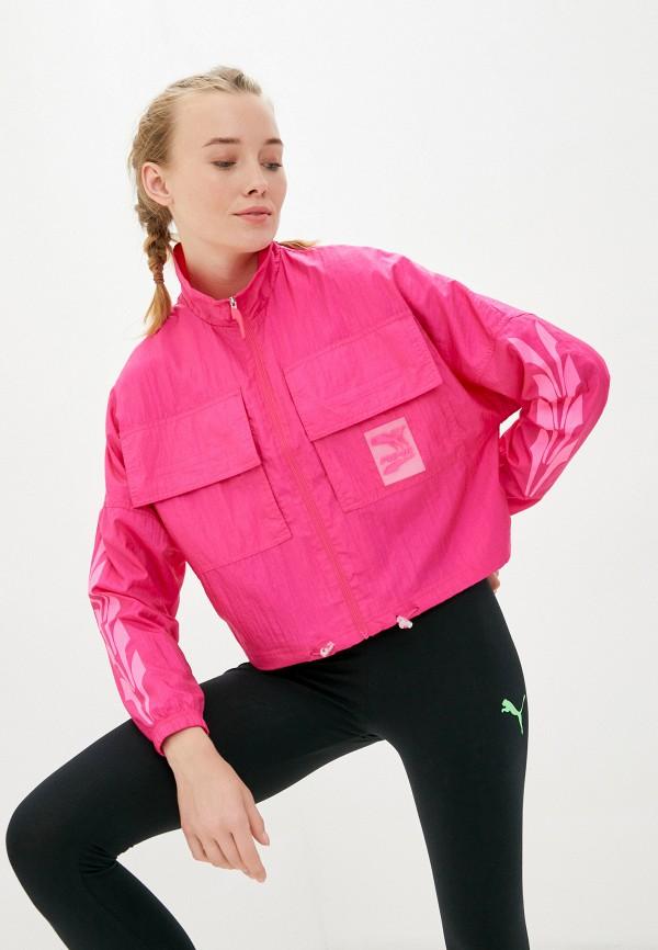 женская олимпийка puma, розовая