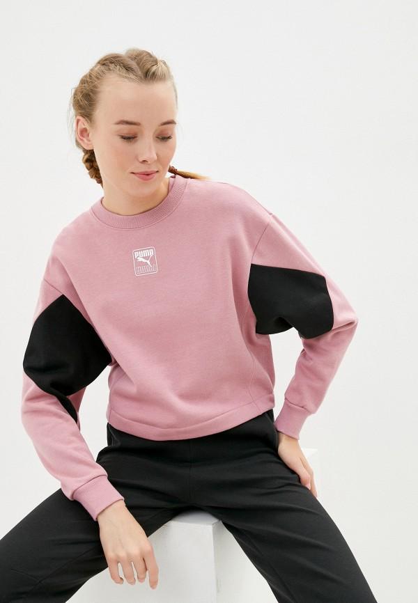 женский свитшот puma, розовый
