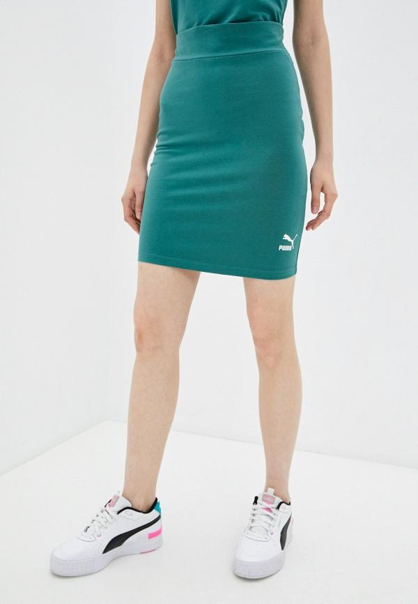 Юбка PUMA зеленого цвета