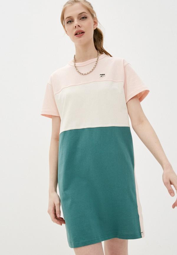 женское платье-футболки puma, разноцветное