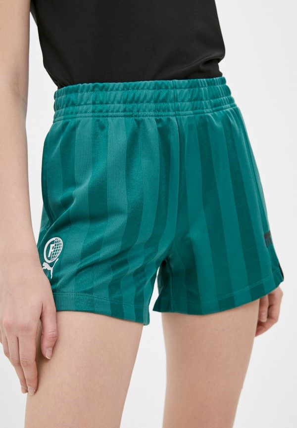 женские спортивные шорты puma, зеленые