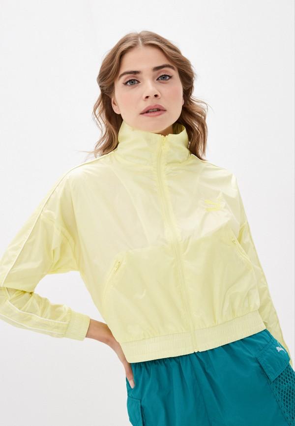женская спортивные куртка puma, желтая