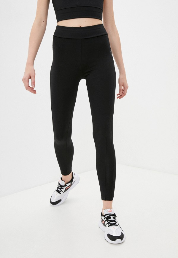 женские спортивные леггинсы puma, черные