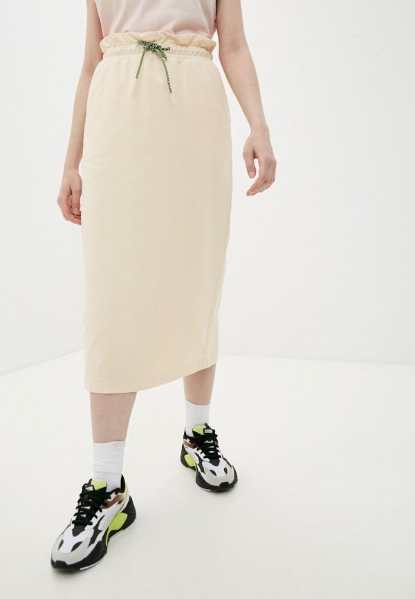 женская спортивные юбка puma, бежевая