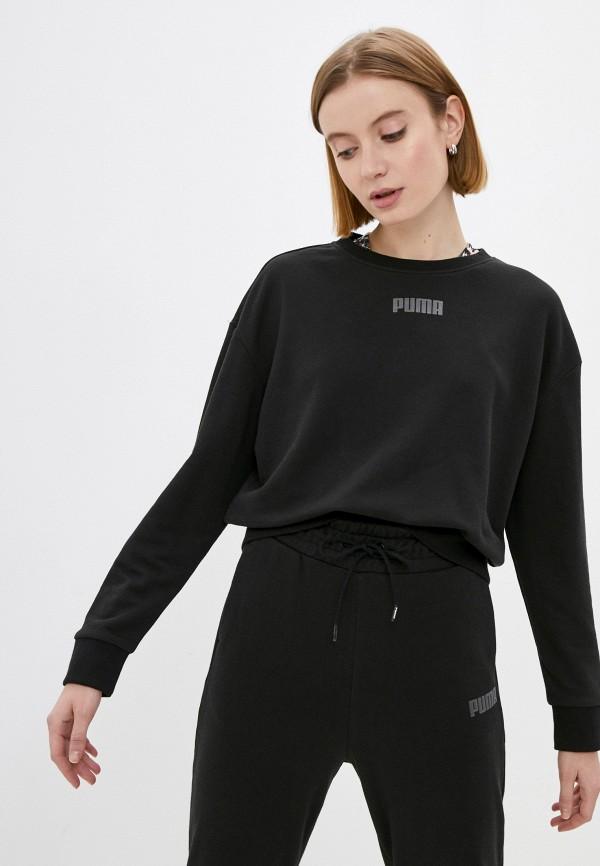 женский спортивные свитшот puma, черный
