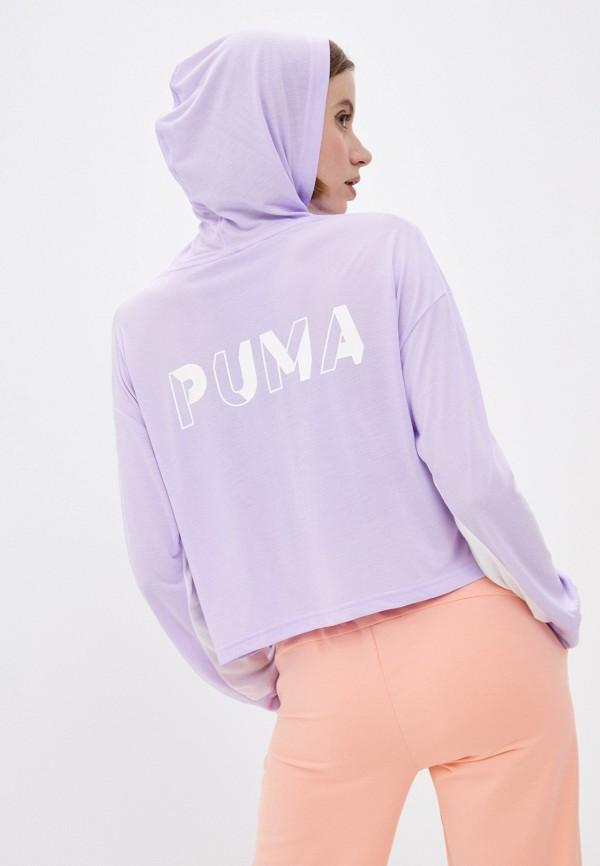 женские худи puma, фиолетовые