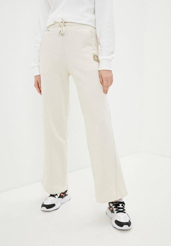 женские спортивные брюки puma, бежевые