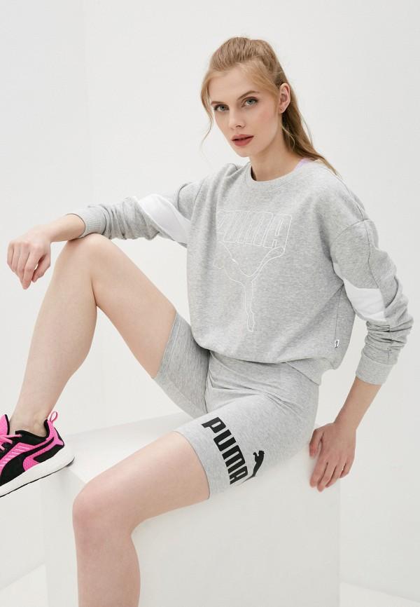 женский спортивные свитшот puma, серый