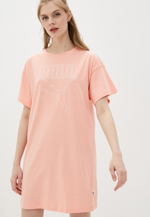 женское платье-футболки puma, розовое