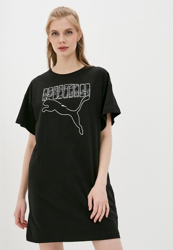 женское спортивные платье puma, черное