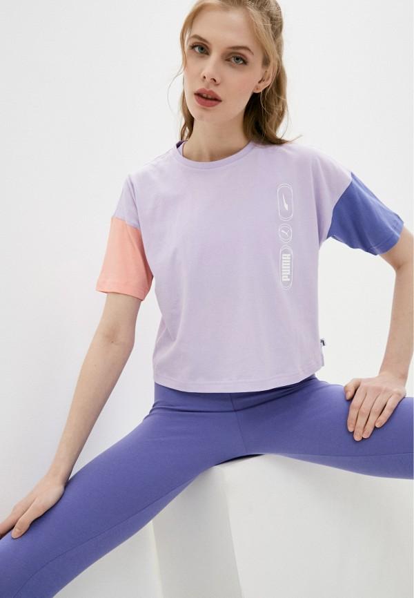 женская спортивные футболка puma, фиолетовая