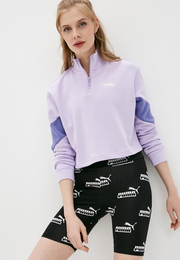 женская спортивные олимпийка puma, фиолетовая