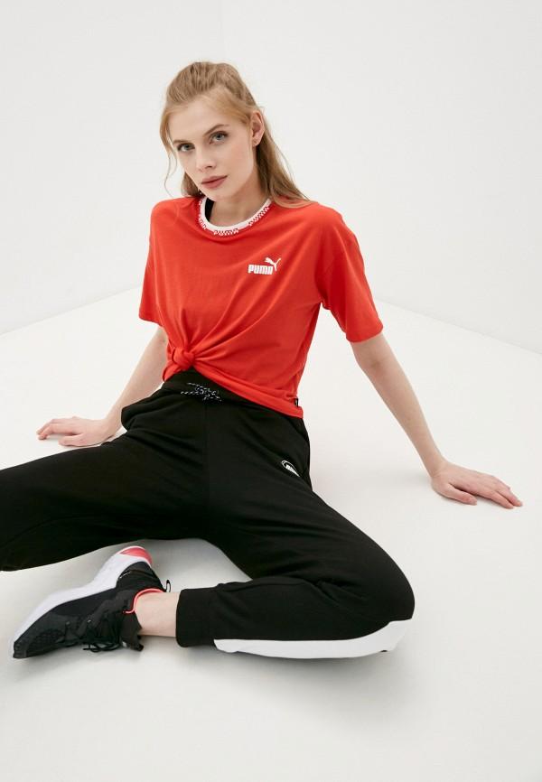 женская спортивные футболка puma, красная