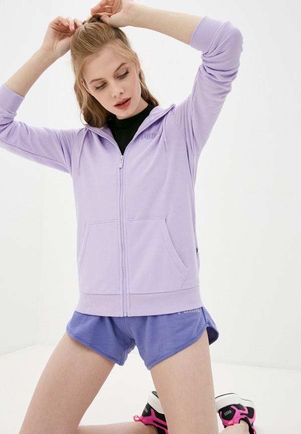 женская спортивные толстовка puma, фиолетовая