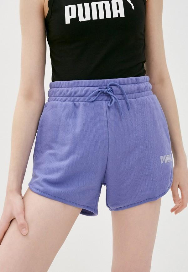 женские спортивные шорты puma, фиолетовые