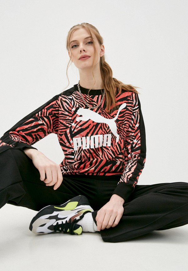 женский спортивные свитшот puma, разноцветный