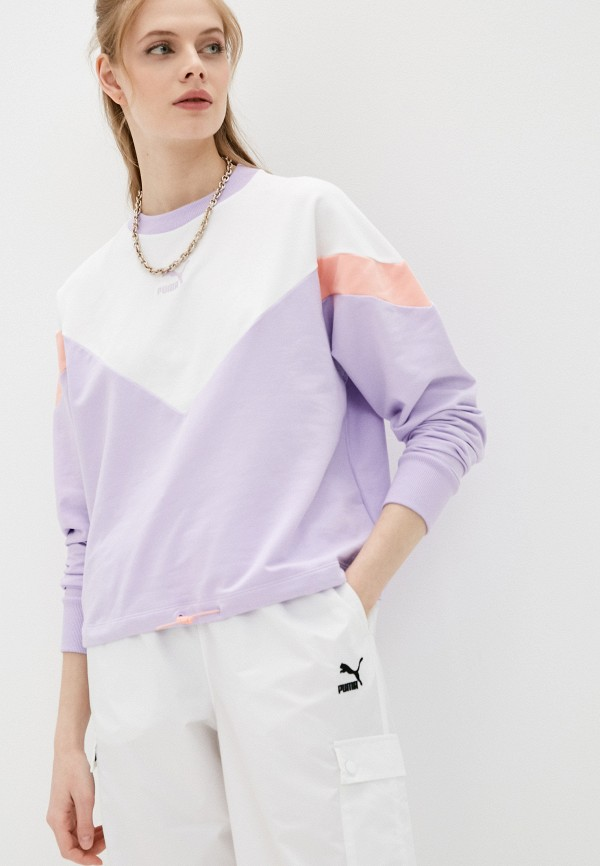 женский свитшот puma, фиолетовый