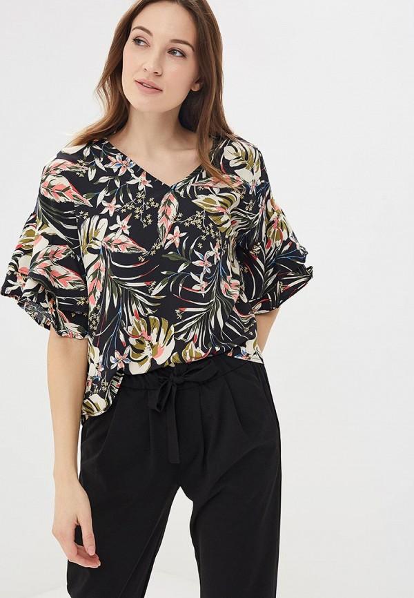 Купить Блуза QED London, qe001ewaorc8, черный, Весна-лето 2018