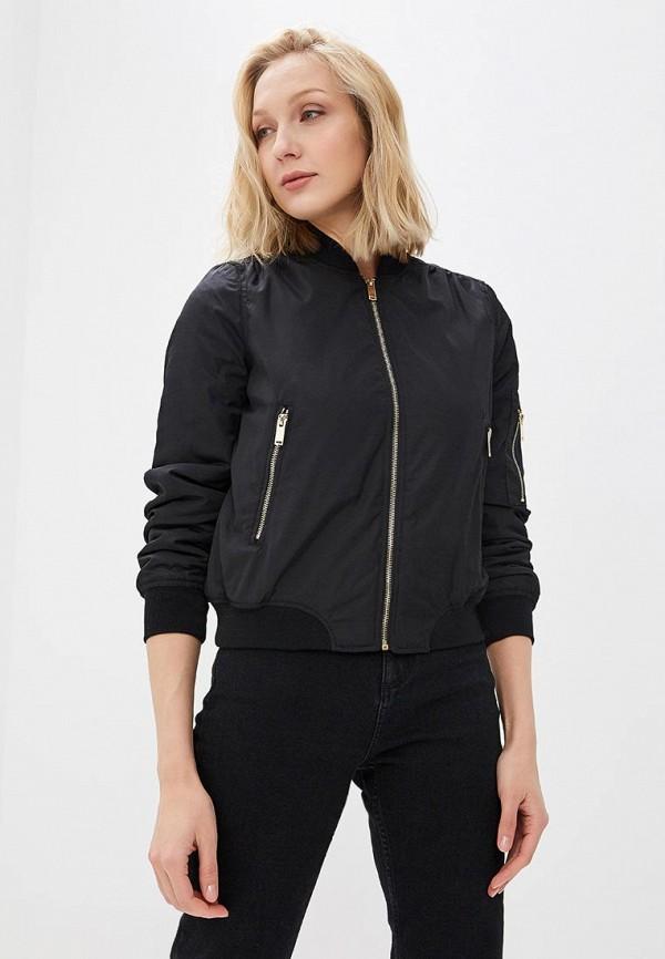 Куртка QED London, qe001ewaord1, черный, Весна-лето 2018  - купить со скидкой