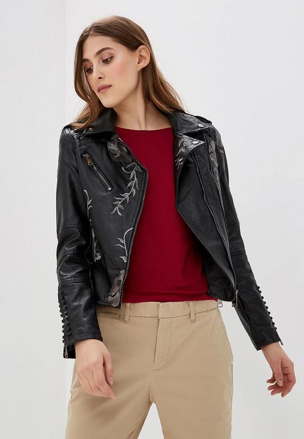 Купить Куртка кожаная QED London, qe001ewaore0, черный, Весна-лето 2018
