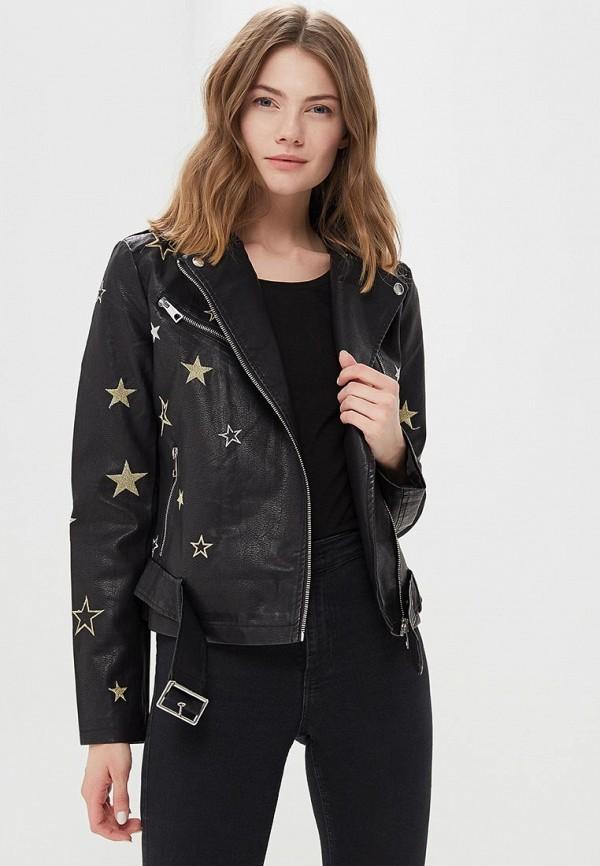Купить Куртка кожаная QED London, qe001ewaore2, черный, Весна-лето 2018