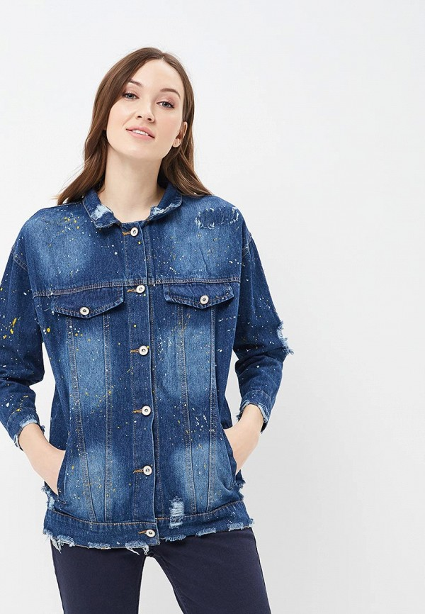 Купить Куртка джинсовая QED London, qe001ewaore4, синий, Весна-лето 2018