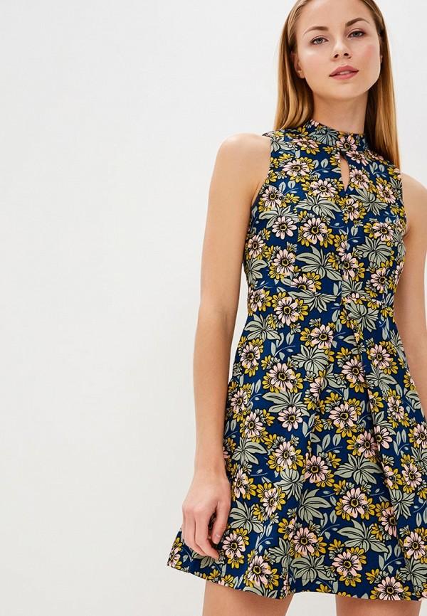 женское повседневные платье qed london, синее