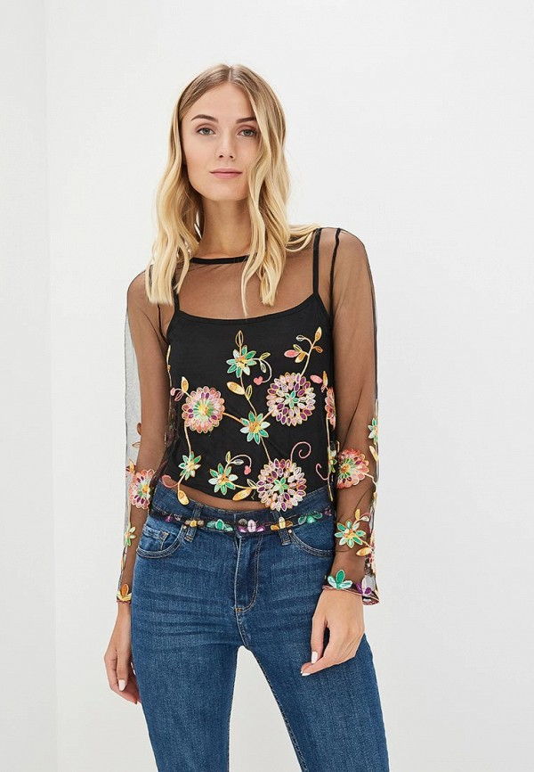Купить Блуза QED London, qe001ewboet6, черный, Весна-лето 2018