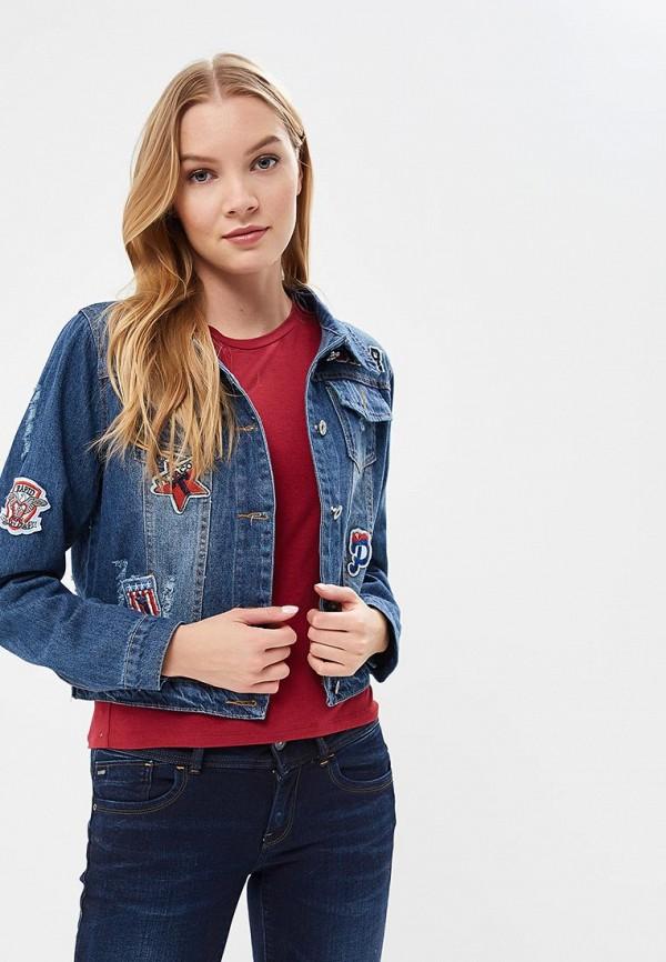Куртка джинсовая QED London, qe001ewrol75, синий, Весна-лето 2018  - купить со скидкой