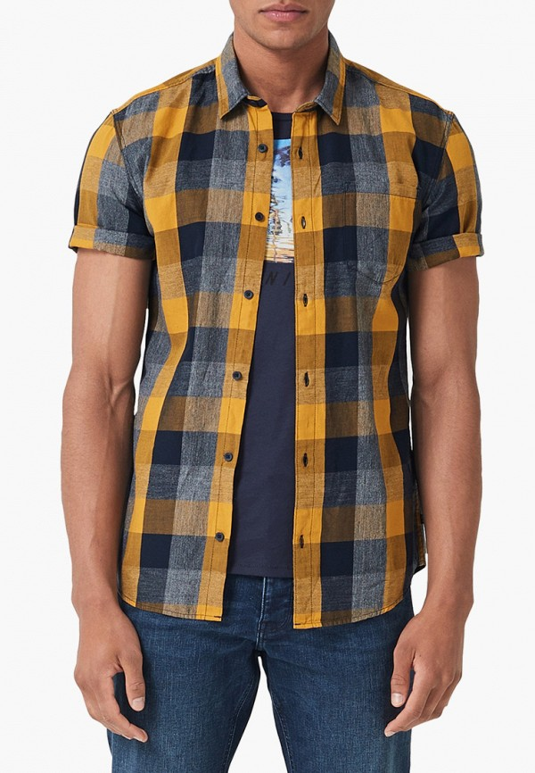 мужская рубашка с коротким рукавом q/s designed by, желтая