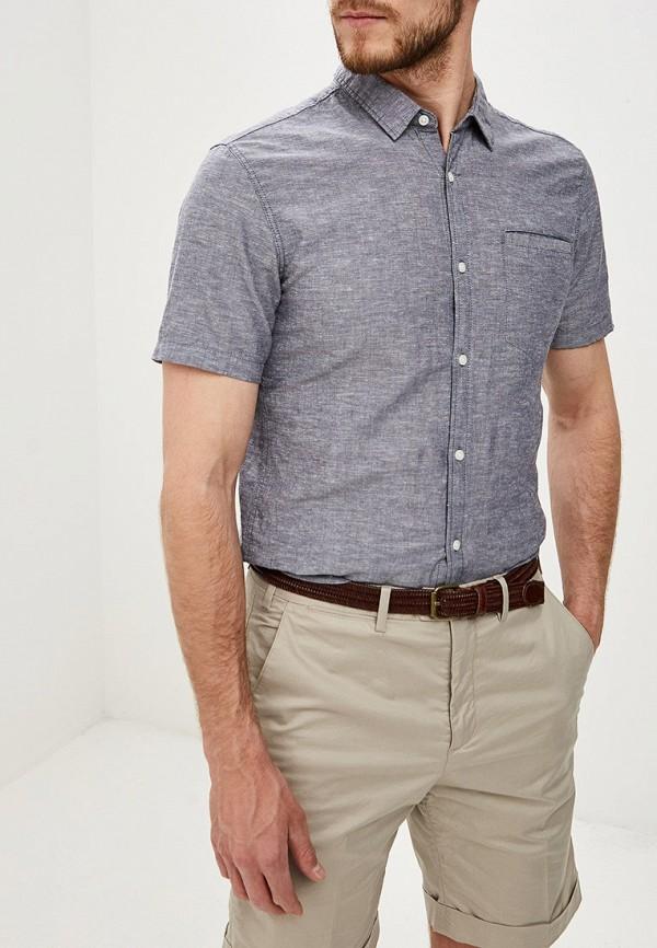 мужская рубашка с коротким рукавом q/s designed by, синяя