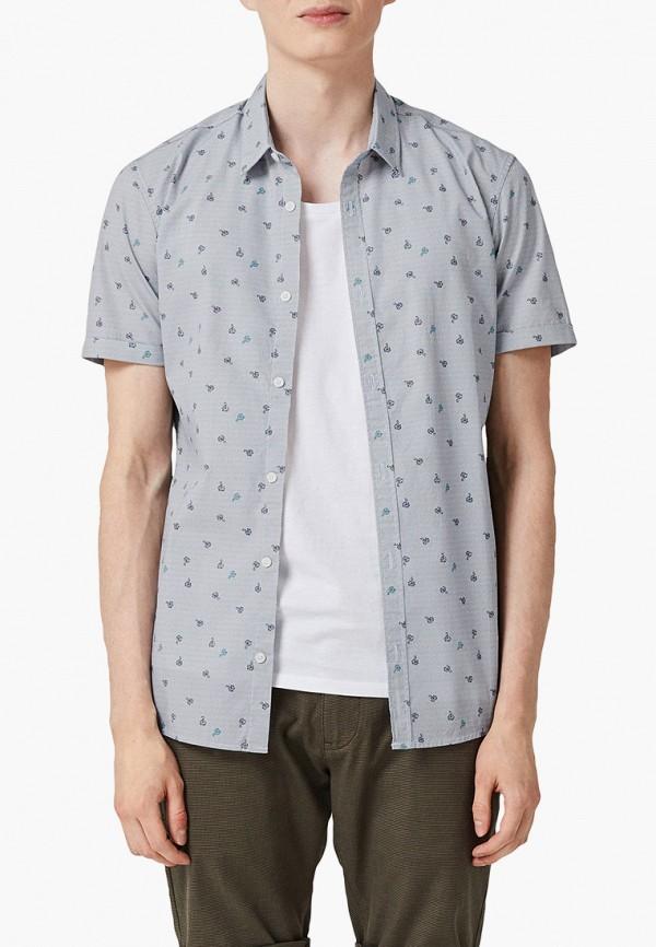мужская рубашка с коротким рукавом q/s designed by, серая