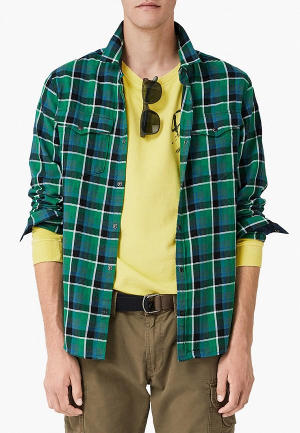мужская рубашка с длинным рукавом q/s designed by, зеленая