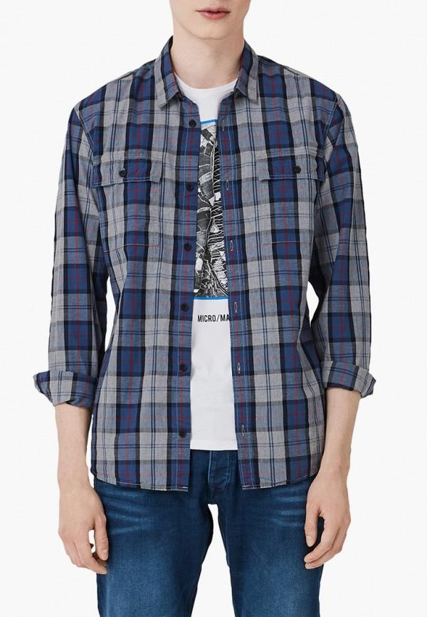 мужская рубашка с длинным рукавом q/s designed by, синяя