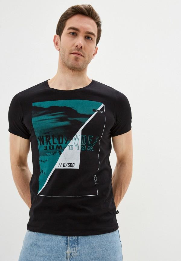 мужская футболка с коротким рукавом q/s designed by, черная