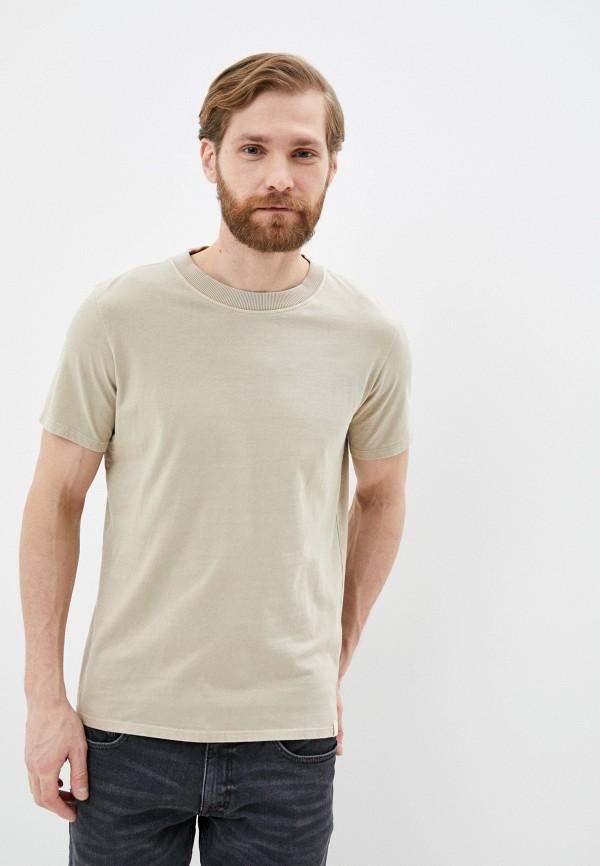 мужская футболка с коротким рукавом q/s designed by, бежевая