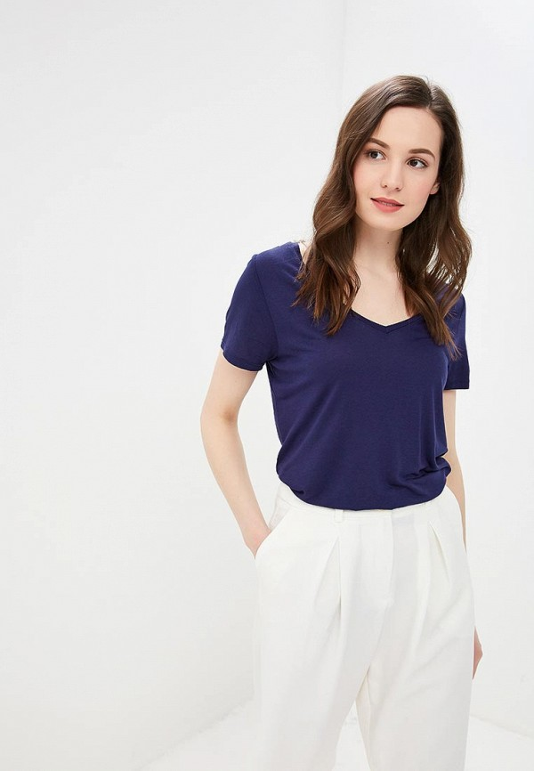 женская футболка q/s designed by, синяя