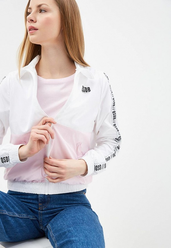 Ветровка Q/S designed by Q/S designed by QS006EWECQN8 patch pocket front color splicing long sleeve drawstring hoodie